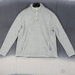 Eddie Bauer Gray Snapmock Radiator Sweater